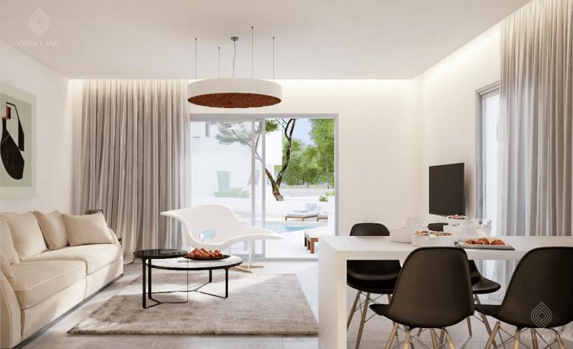 Phòng khách dự án Vista Limassol