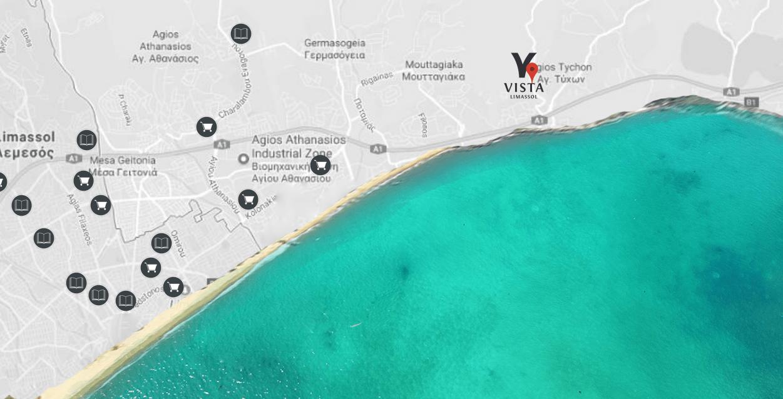 Vị trí biệt thự Vista Limassol