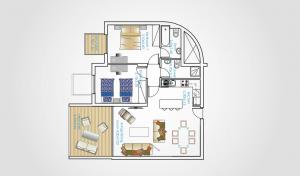 Bản vẽ thiết kế căn 2 phòng ngủ trong dự án Oasis Park