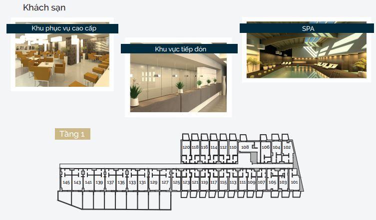 Thiết kế tầng 1 của dự án.
