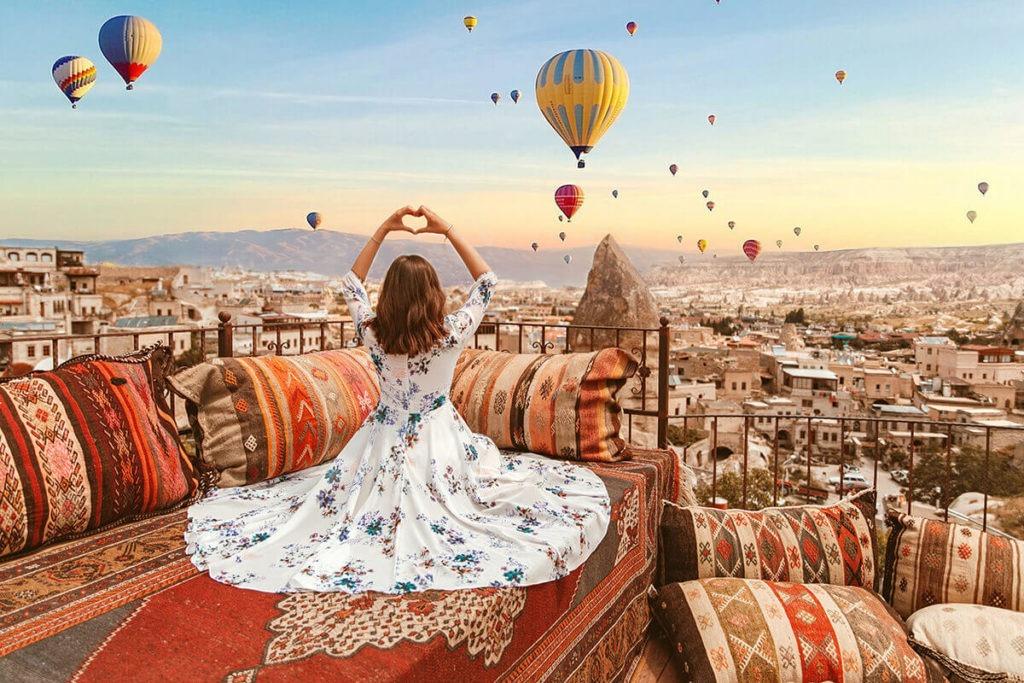 Hình ảnh lễ hội khinh khí cầu tại Thổ Nhĩ Kỳ